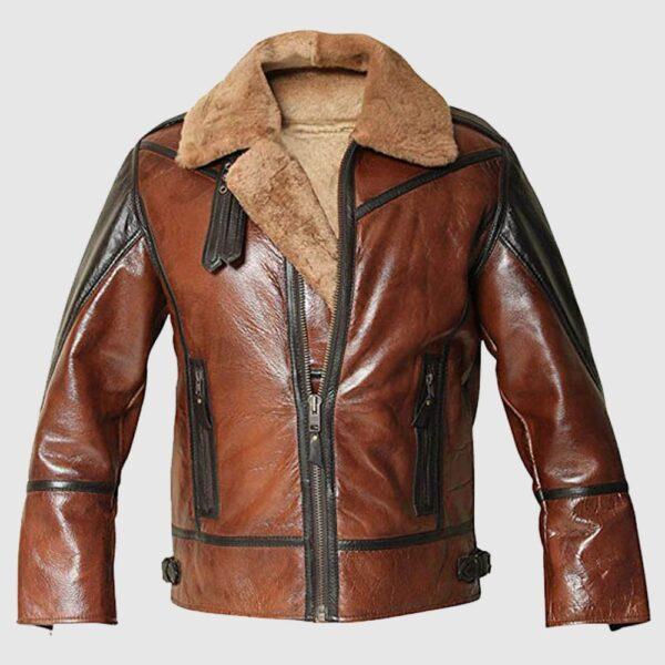 B3 Sheepskin Leather Jacket Men