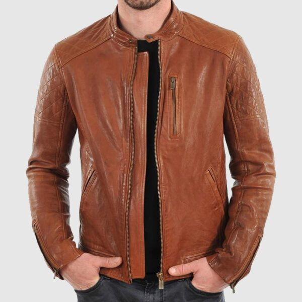 Browni Quilted Leather Jacket