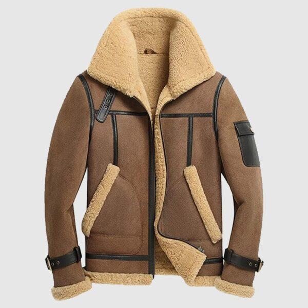 Mens B3 RAF Aviator Flying Pilot Bomber Leather Jacket