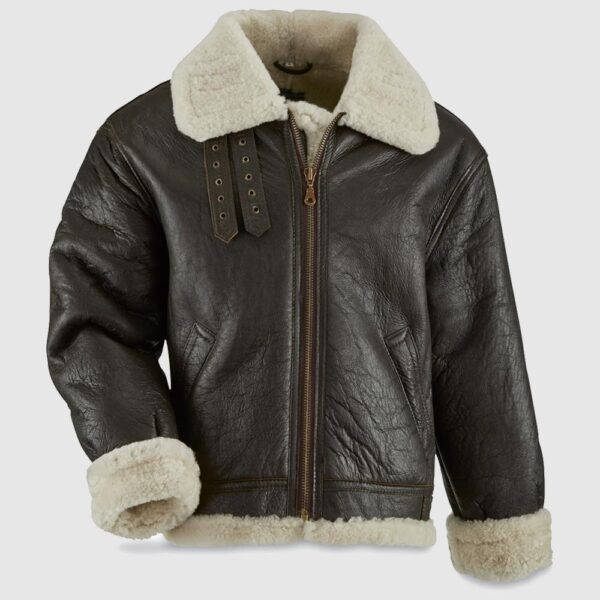 U.S. Military WW2 Reproduction Sheepskin Leather B3 Flight Jacket